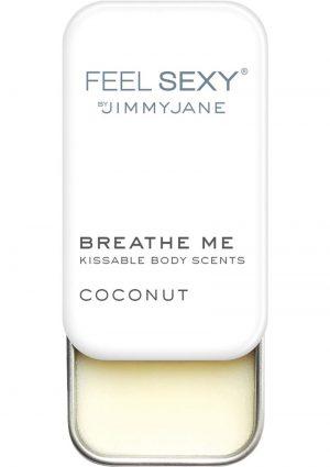 JimmyJane Feel Sexy Breathe Me Kissable Body Scents Coconut .28 Ounce Tin