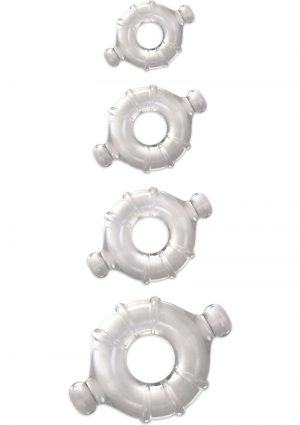 Renegade Vitality Rings Clear 4 Set