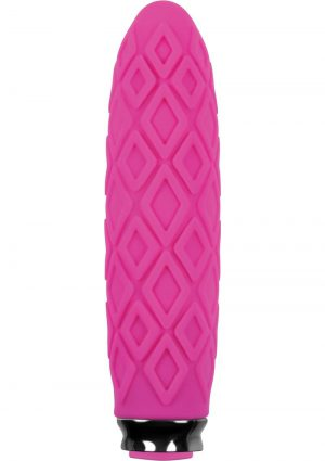 Luxe Collection Princess Compact Silicone Vibe Rechargeable Waterproof Pink
