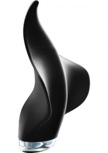 Mimic Rechargeable Silicone Handheld Massager Waterproof Black