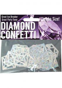 Diamond Mylar Confetti Silver Jumbo Size