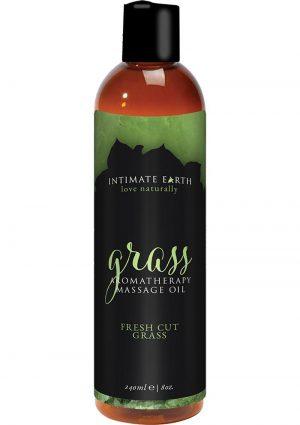 Intimate Earth Aromatherapy Massage Oil Fresh Cut Grass 8 Oz
