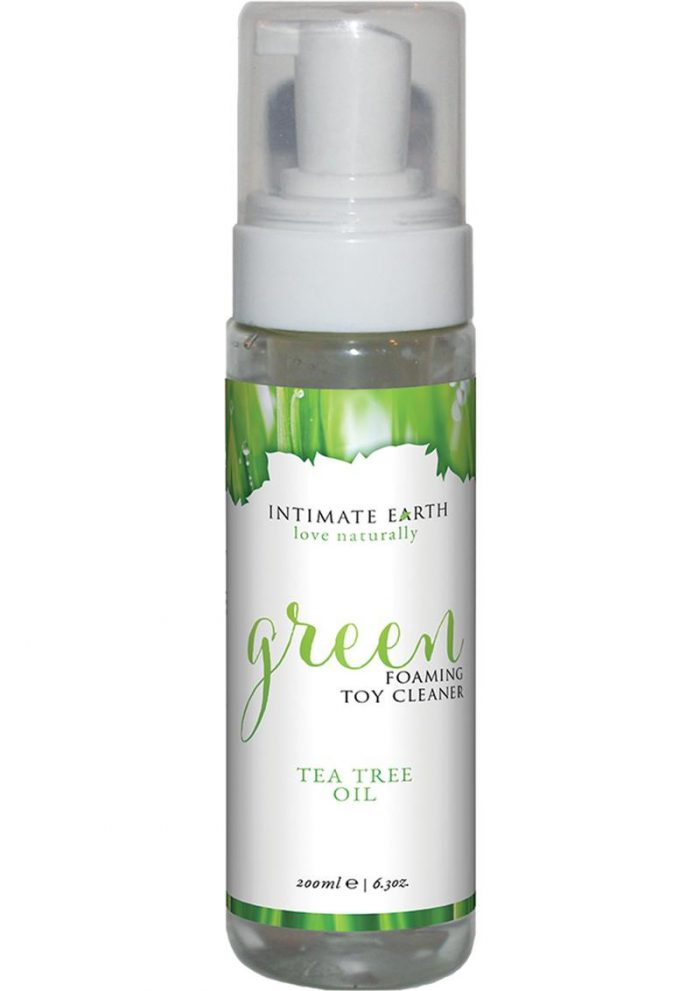 Intimate Earth Green Foaming Toy Cleaner Tea Tree Oil 6.3 Ounce