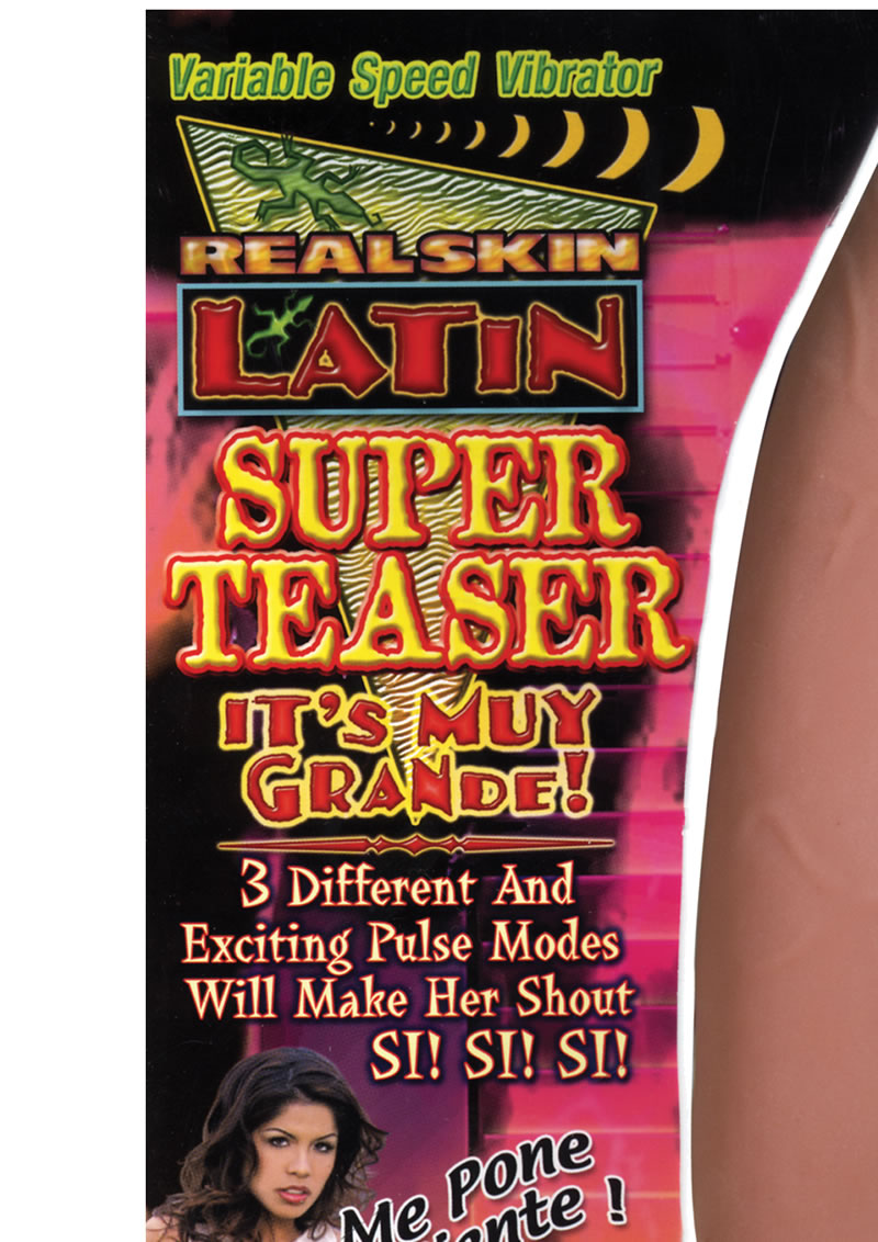 Real Skin Latin Super Teaser Realistic Vibrator Brown