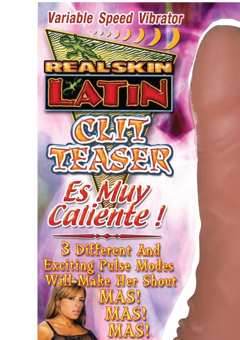 Real Skin Latin Clit Teaser Vibrator Es Muy Caliente Brown