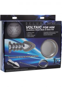 Zeus Electrosex Deluxe Series Voltaic For Him Stainless Steel Male E-Stim Kit