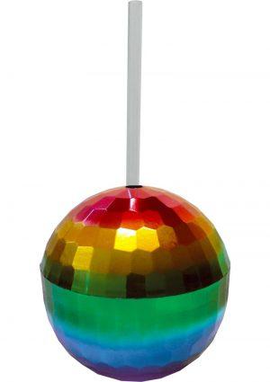 Rainbow Disco Ball Cup