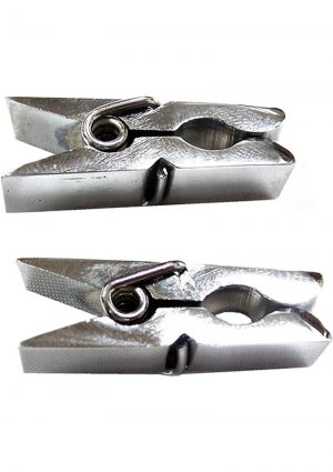 Rouge Metal Nipple Clamps In Clamshell Silver