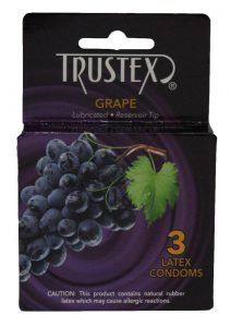 Trustex Condom Grape Flavored Lurbricated