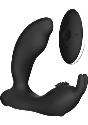 The Prostate Rabbit USB Rechargeable Silicone Wireless Remote Control Anal Stimulator Black