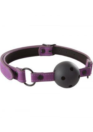 Lust Bondage Ball Gag Purple And Black