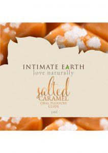 Intimate Earth Oral Pleasure Glide Salted Caramel 3 Milliliter Foil Pack