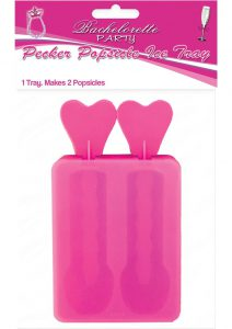 Bachelorette Party Pecker Popsicle Ice Tray 2 Molds Pink