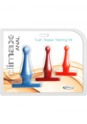 Climax Anal Silicone Tush Teaser Training Kit Waterproof 3 Assorted Sizes And Colors
