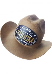 Giddy-Up Clip on Cowboy Party Hat for the Groom