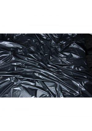 Lux Fetish Vinyl Bed Sheet Black California King Size