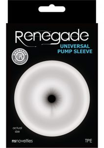Renegade Universal Pump Sleeve Accessory Anal Clear