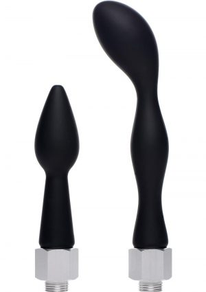 Clean Stream Silicone Enema Attachment Set Black 2 Each Per Set