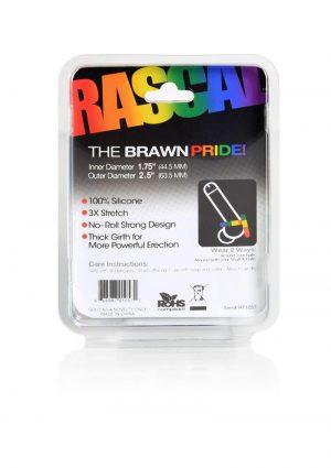 Rascal The Brawn Pride Silicone Cockring Multi-Color 2.5 Inch Diameter