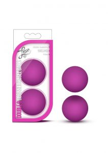 Luxe Double O Kegel Balls Pink Weighted .8 Ounce