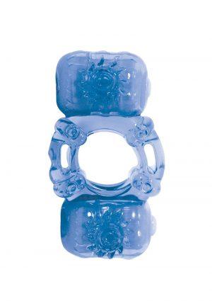 The Best Of Macho Partners Dual Vibe Pleasure Ring Waterproof Blue