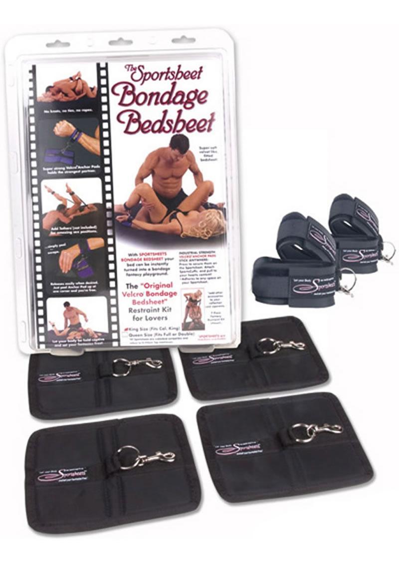 Bondage Bed Sheet Queen Black