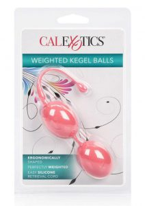 Weighted Kegel Balls Silicone With Retrival Cord Pink