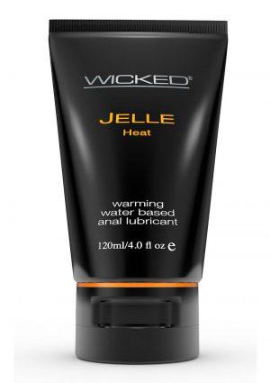 Wicked Jelle Heat Waterbased Anal Gel 4 Ounce