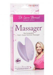 Dr. Laura Berman Intimate Basics Massager USB Rechargeable Palm Sized Silicone Waterproof Purple