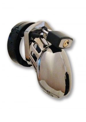 CB-6000S Designer Collection Male Chasitity Device With Lock Chrome Finish