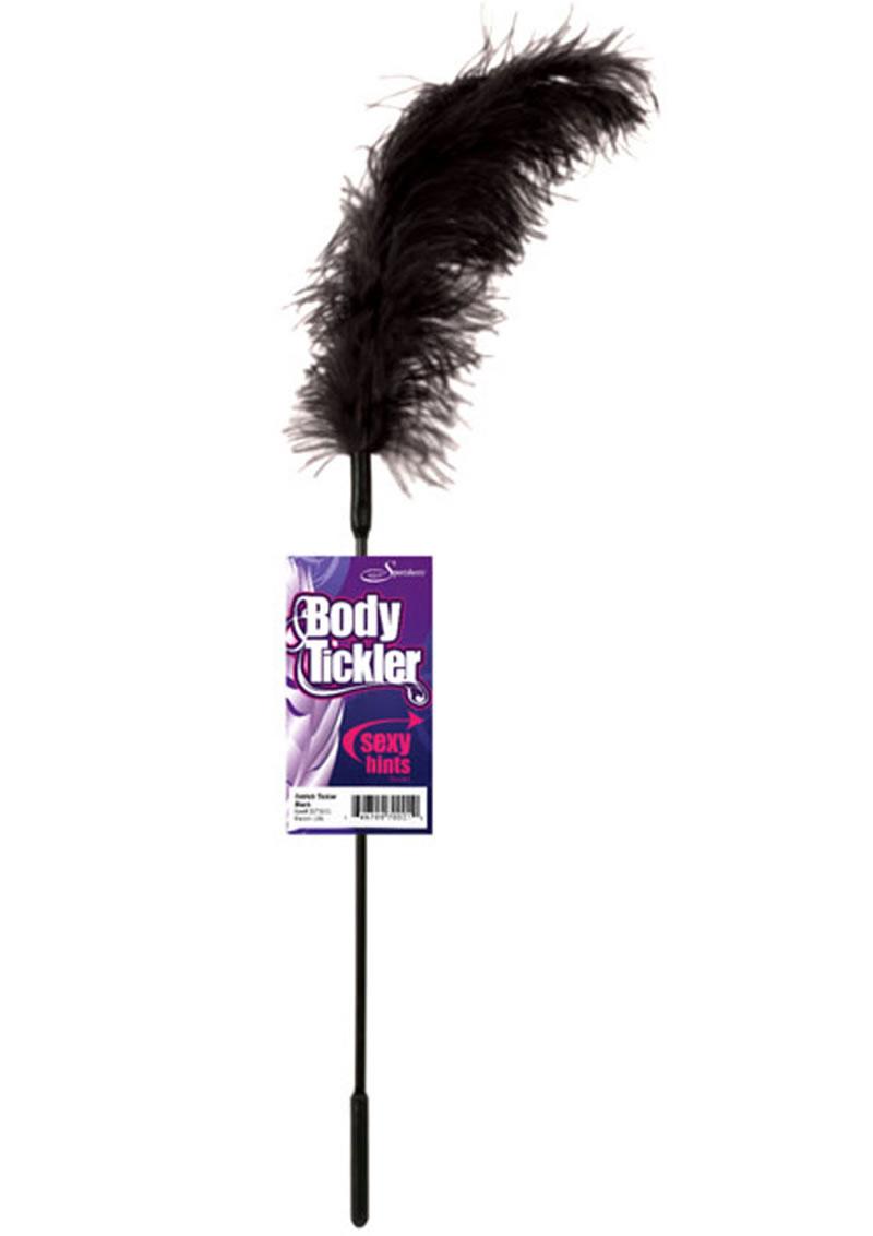 Body Tickler Ostrich Feather Tickler Black