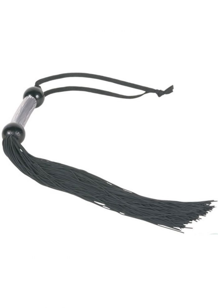 Sex And Mischief Small Rubber Whip 10 Inch Black