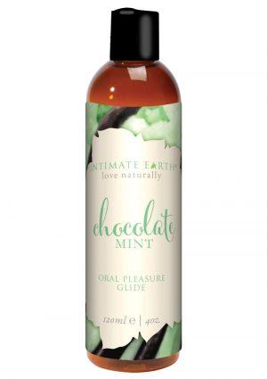 Intimate Earth Pure Vegan Oral Pleasure Glide Chocolate Mint 4 Ounce
