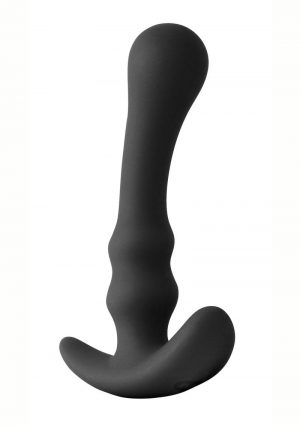 Renegade Pillager III Silicone Anal Plug Black 5.5 Inch