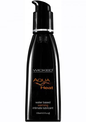 Wicked Aqua Heat Water Based Warming Intimate Lubricant 4 Ounce Pump