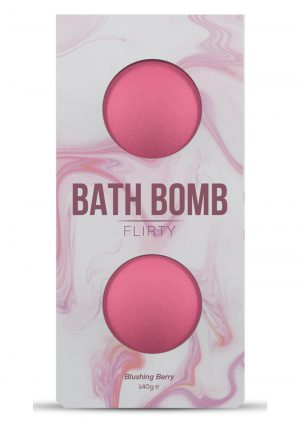 Dona Flirty Fragrance Bath Bomb Blushing Berry 2 Per Box