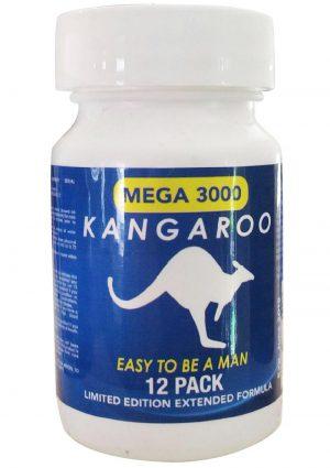 Kangaroo Mega 3000 Enhancement Pill For Him 12 Pills Per Bottle