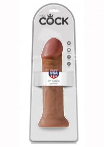 King Cock Realistic Dildo Tan 11 Inch