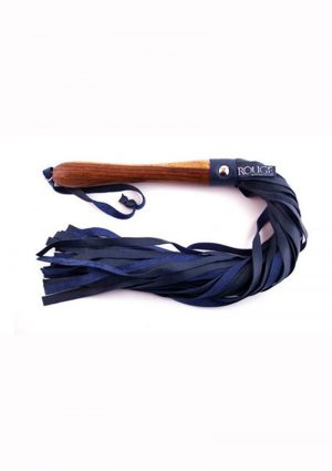 Rouge Wooden Handle Flogger Blue 23.23 Inches