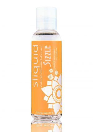Sliquid Natural Sizzle Stimulating Lubricant 2 Ounce