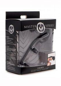 Master Series Thorn Double Finger Pinwheel Plastic Black
