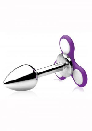 Frisky Ass Spinner Light Up Fidget Spinner Anal Plug Stainless Steel 5 Inch
