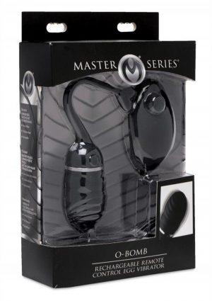 Master Series O Bomb Rechargeable Remote Control Egg Vibrator Black