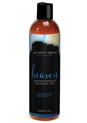Intimate Earth Heaven Aromatherapy Massage Oil Hazelnut Biscotti 8 Ounce