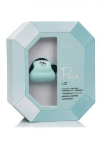 Jopen Pave Liz Silicone With Crystals Finger Massager USB Rechargeable Waterproof Blue