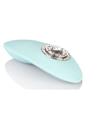 Jopen Pave Grace Silicone With Crystals Massager USB Rechargeable Waterproof Blue