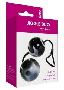 Minx Jiggle Duo Love Balls Weighted Ben Wa Balls Waterproof Black