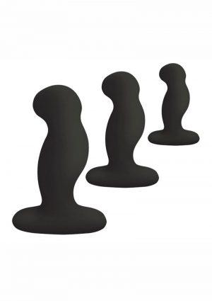 Nexus Anal Starter Kit Silicone Anal Plugs 3 Sizes In Each Kit Black