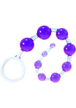 Kinx Dragons Tail Anal Beads Waterproof Purple 10.75 Inches
