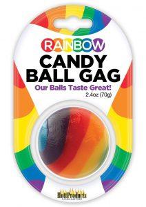 Rainbow Candy Ball Gag Assorted Flavor Assorted Color